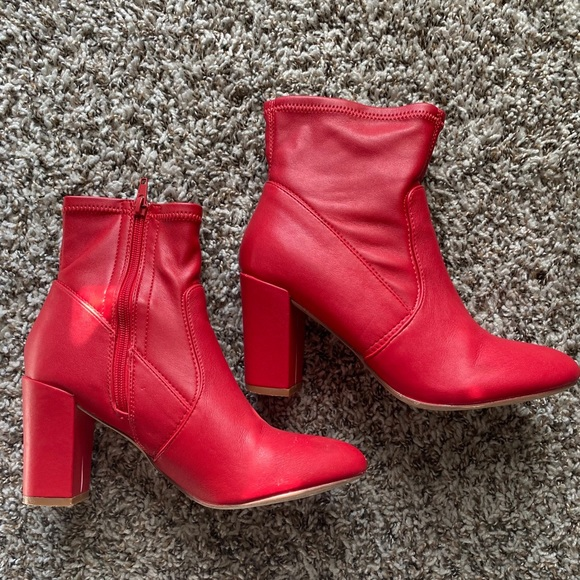 Barón Marchito conocido  Steve Madden Shoes | Steve Madden Actual Red Ankle Boot | Poshmark